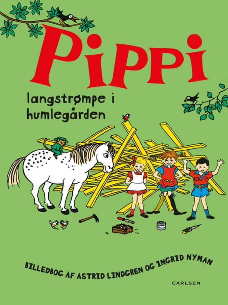 Pippi Langstrømpe, Pippi Langstrømpe i Humlegården, Astrid Lindgren, børnebog, børnebøger, klassiske børnebøger, klassisk børnebog