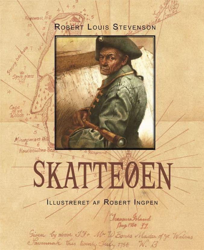 Skatteøen, Roebrt Louis Stevenson, Robert Ingpen, klassisk børnebog, klassiske børnebøger