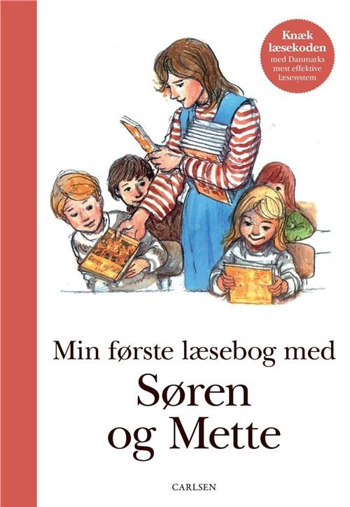Min første læsebog med Søren og Mette, Søren og Mette, første skoledag, skolestart, abc, læsestart