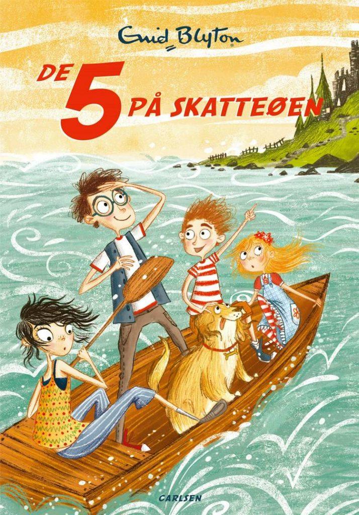 De 5, De 5 på skatteøen, Enid Blyton, børnebogsklassiker, børnebog, børnebøger, spændende børnebøger
