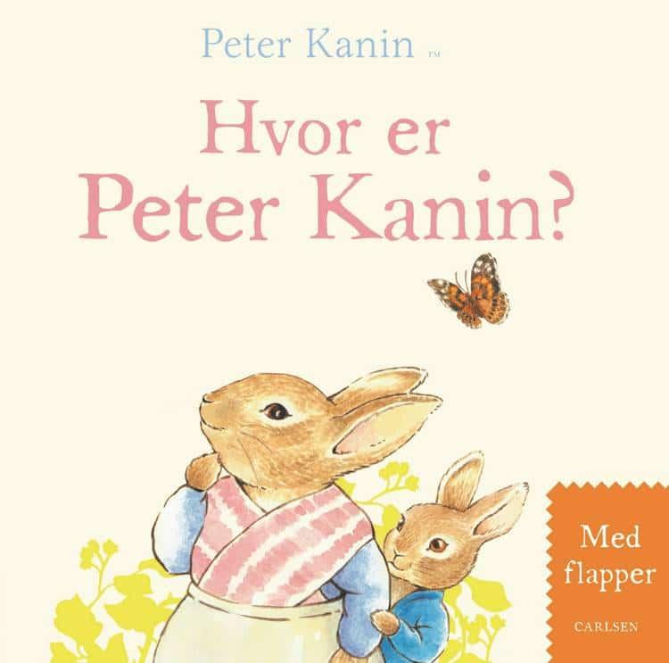 Hvor er Peter Kanin, Beatrix Potter, papbog, Peter Kanin, bøger til baby, børnebog, børnebøger