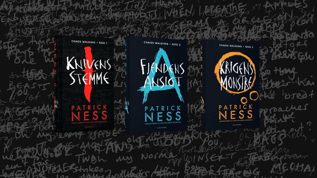 Chaos walking, knivens stemme, fjendens ansigt, krigens monstre, patrick ness, ya, young adult