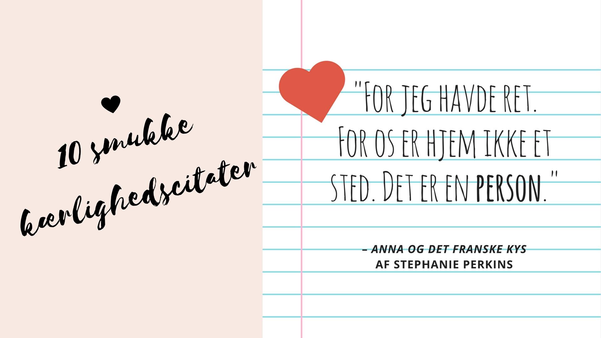 10 smukke kærlighedscitater - bog.dk