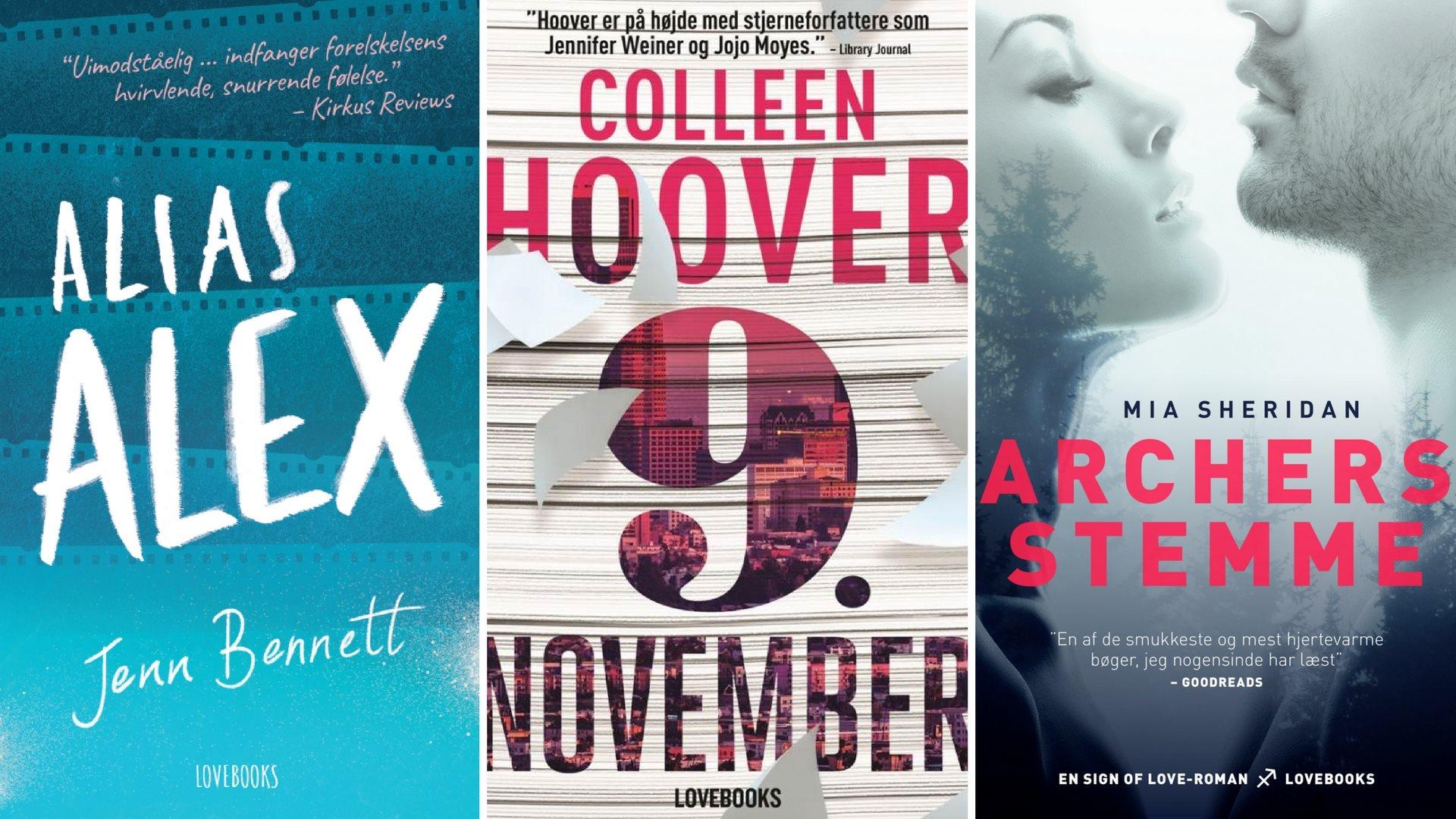 LOVEBOOKS kærlighedsromaner 2017 Colleen Hoover 9. november