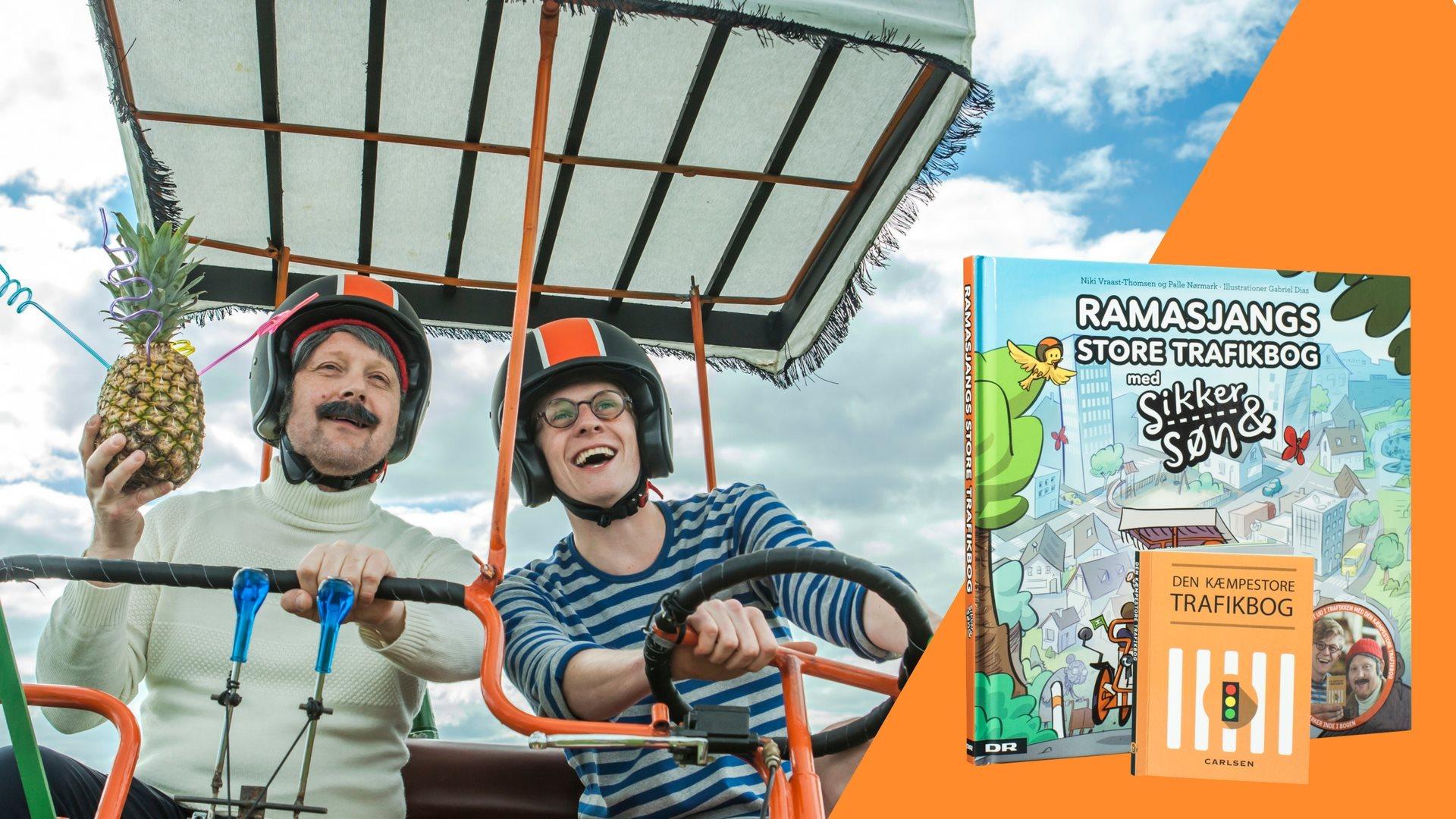 Ramasjangs store trafikbog med Sikker & Søn, trafikbog, Sikker & Søn, børnebøger