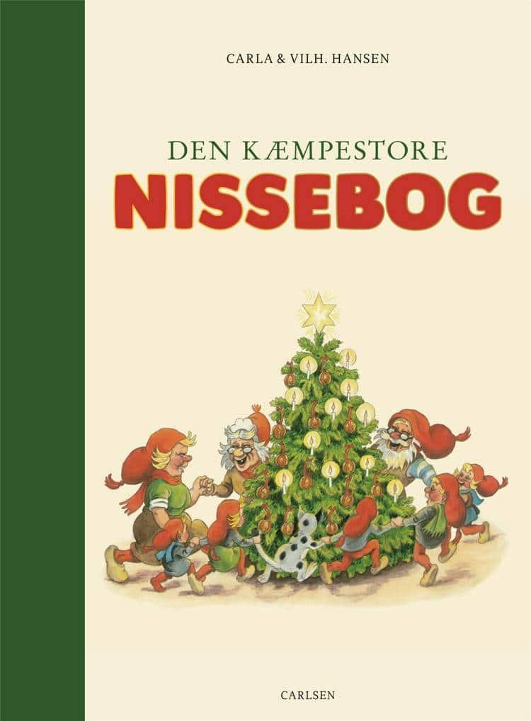 Den kæmpestore nissebog, nissebog, bog om nisser, bøger om nisser, julebørnebøger, Carla Hansen, Vilhelm Hansen