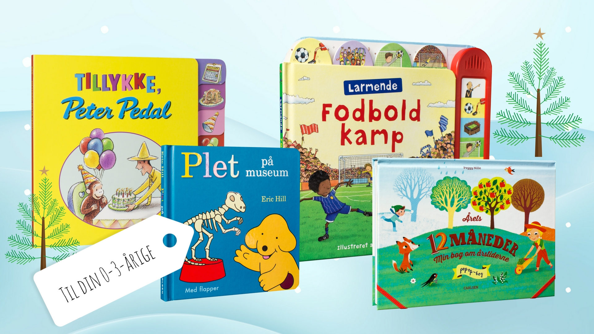Julegavebøger, julegaver, papbøger, børnebøger, børnebog, julegave, 0-3 år, gaveidéer
