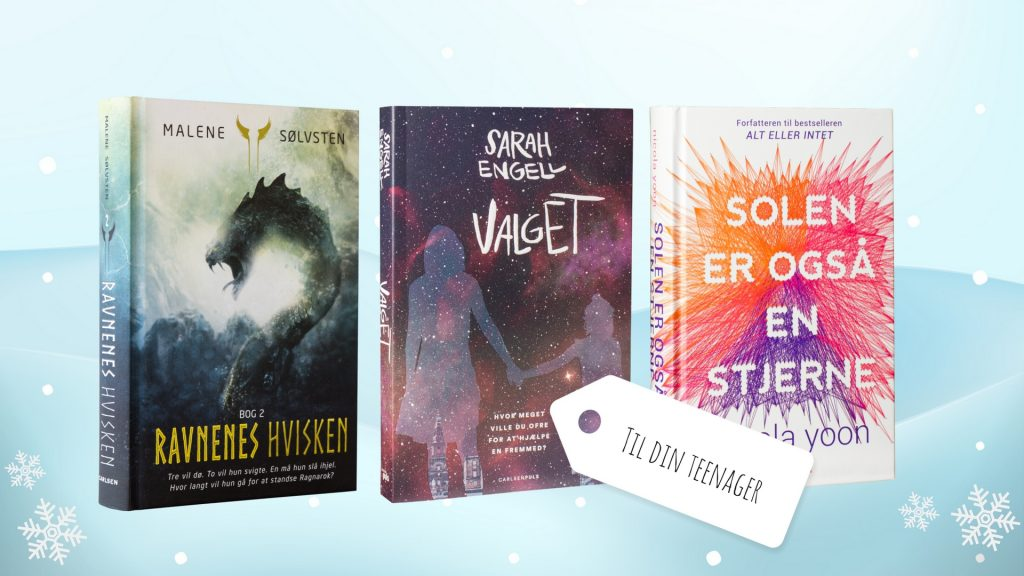 Julegavebøger, julegaver til teenageren, ungdomsbøger, julegave, young adult bøger, gaveidéer, teens