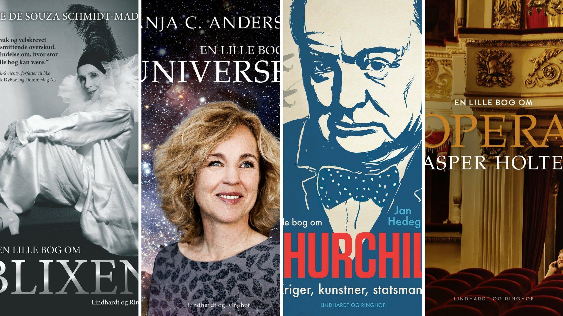 små bøger, lille bog om, blixen, universet, churchill, lindhardt og ringhof, opera, kasper holten, trend, tendens