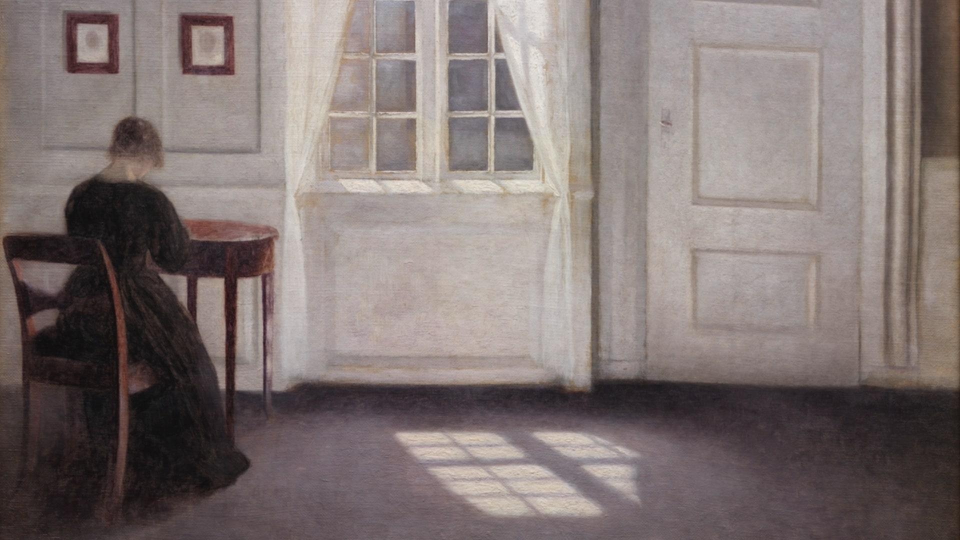 Vilhelm Hammershøi, På sporet af det åbne billede