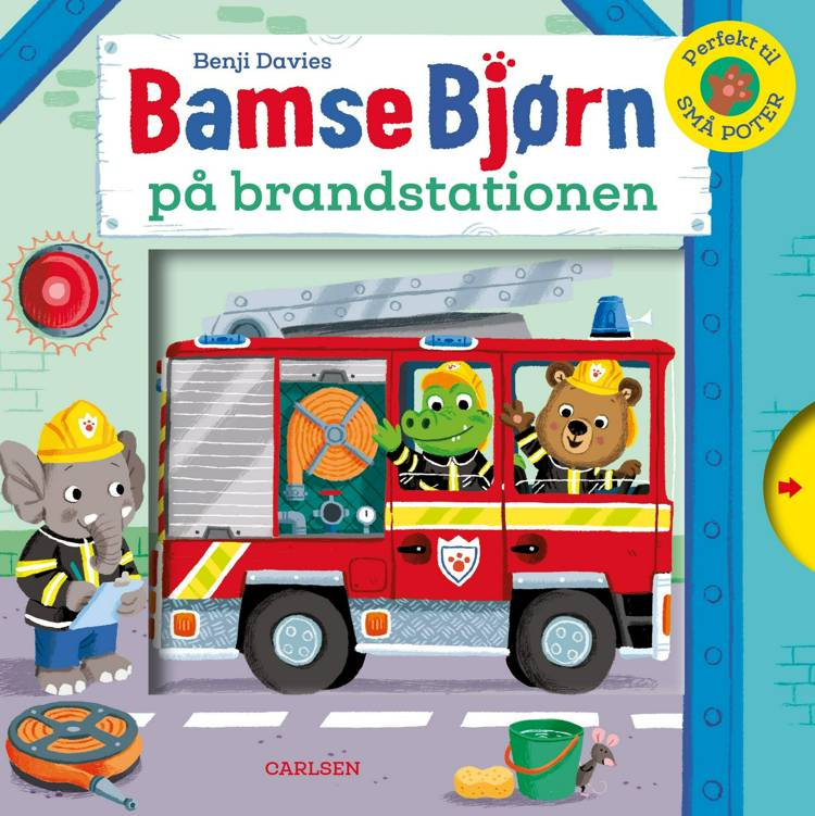 Bamse Bjørn, Bamse Bjørn på brandstationen, papbog, bøger til små børn, bøger til de yngste