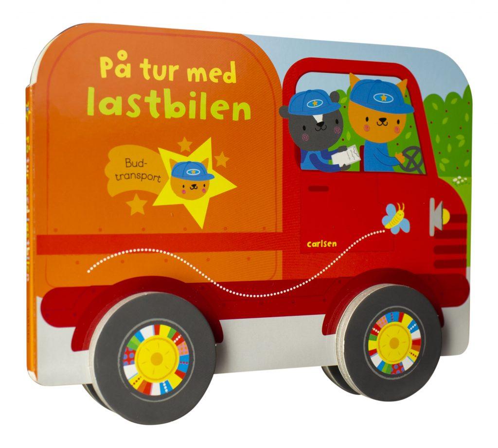 På tur med lastbilen, papbog, papbøger, bøger til de yngste