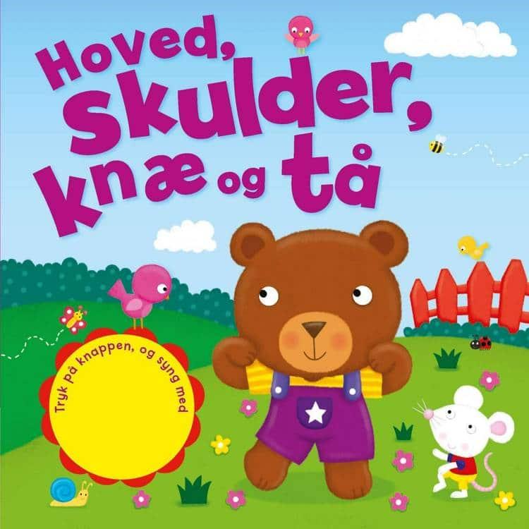 Hoved skulder knæ og tå, sjov med lyd, babybøger, babybog, bøger til baby