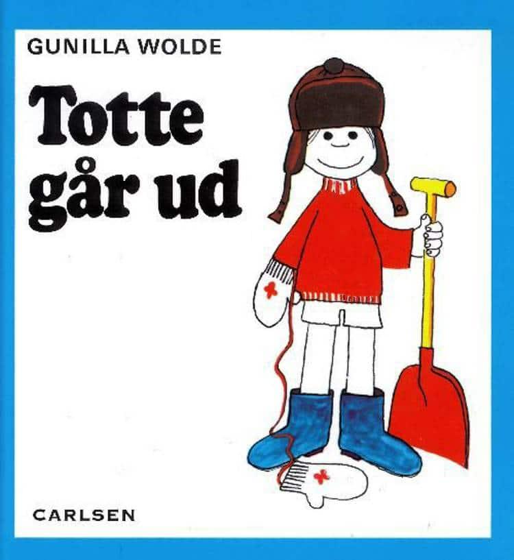Totte går ud, Totte, Lotte, Gunilla Wolde, børnebog, børnebøger, billedbog, billedbøger