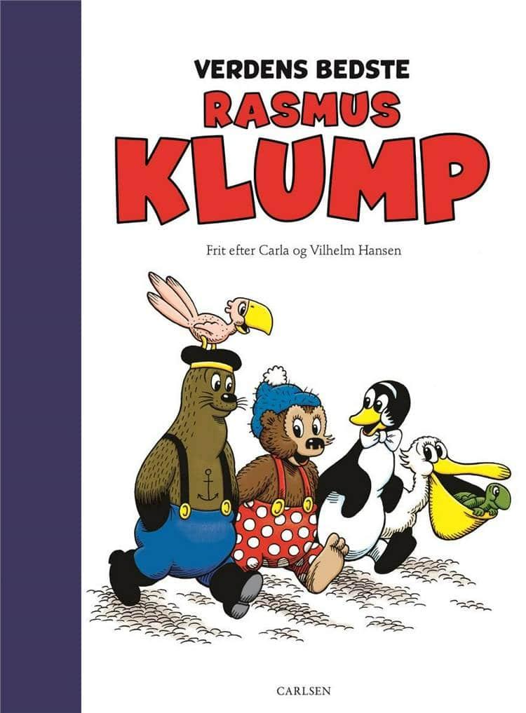 Verdens bedste Rasmus Klump, Rasmus Klump, Carla Hansen, Vilhelm Hansen, børnebog, børnebøger, klassisk børnebog