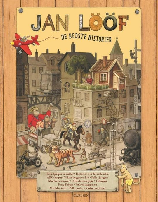 Jan Lööf, De bedste historien, Historien om det røde æble, Pelles lommelygte, Viktor bygger en bro, børnebog, børnebøger, børnebogsklassiker, børnebogsklassikere,