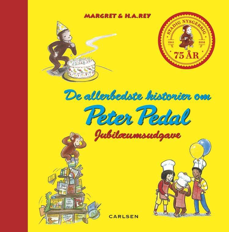 Peter Pedal, De allerbedste historier om Peter Pedal, H.A. Rey, Margret Rey, Manden med den gule hat, børnebog, børnebøger