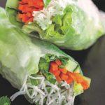 Lækre retter fra Grøn mad let at lave. Rispapirruller med dipsauce