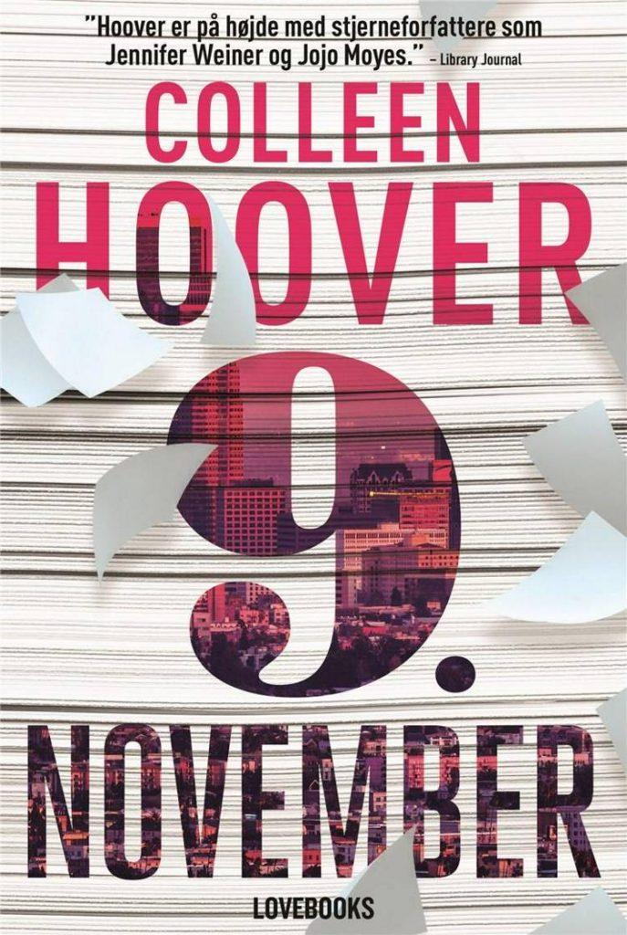 9. november, Colleen Hoover, romance, romance-bøger, kærlighedsroman