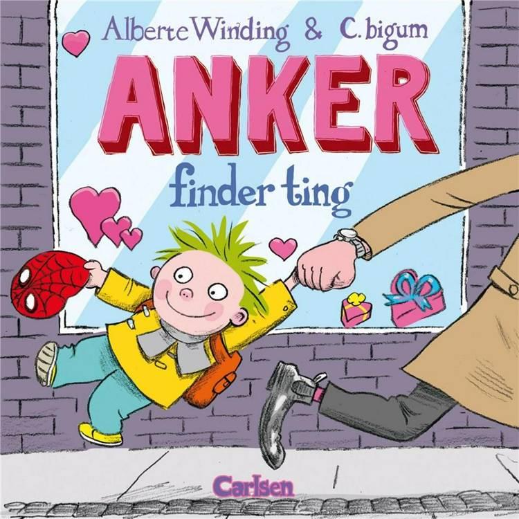 Anker finder ting, Alberte Winding, Claus Bigum, billedbog, billedbøger