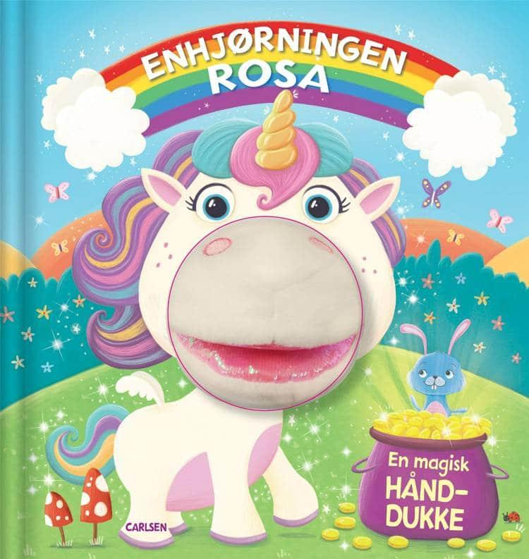 Enhjørningen Rosa, enhjørning, bog, bog med hånddukke, børnebog, børnebøger