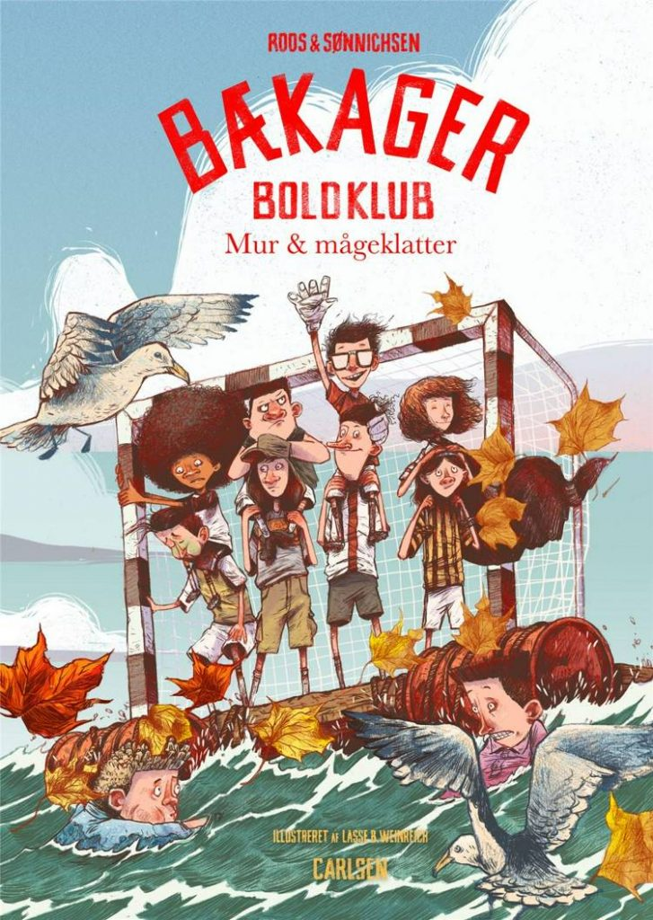 Bækager Boldklub, Mur og mågeklatter, bækager boldklub 3, Jesper Roos Jacobsen, Ole Sønnichsen, fodboldbog, fodboldbøger, børnebog,
