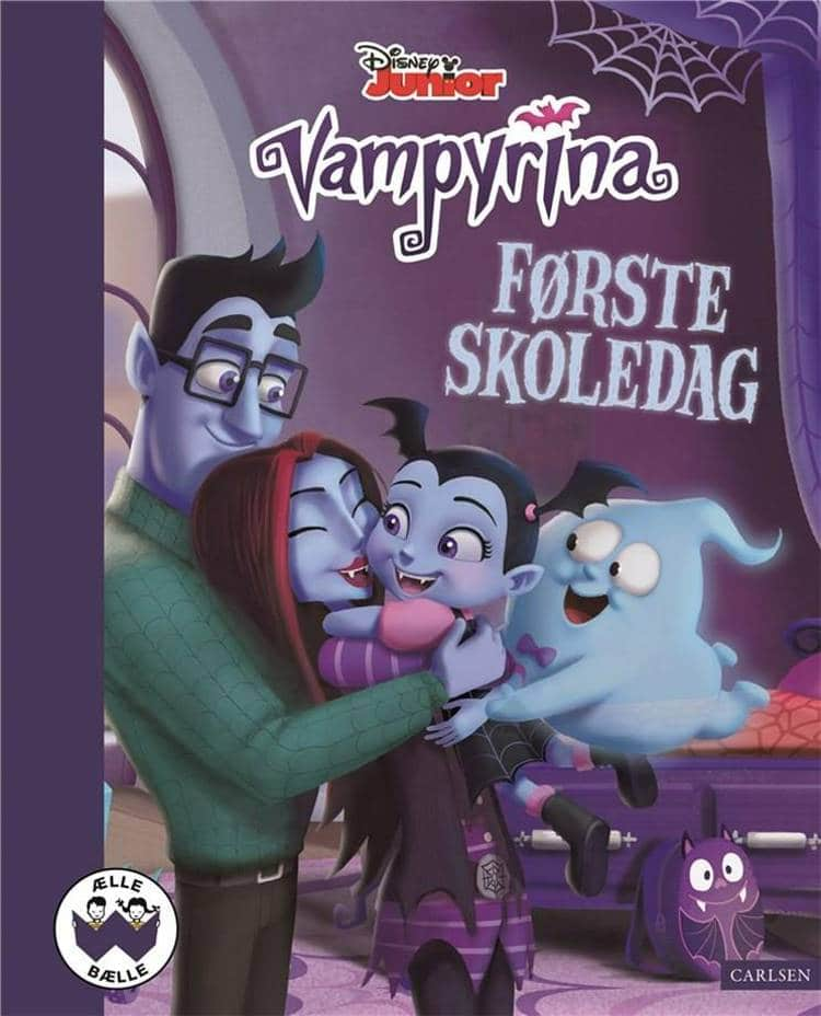 nostalgi, klassiske børnebøger, disney jr., disney junior, vampyrina, første skoledag