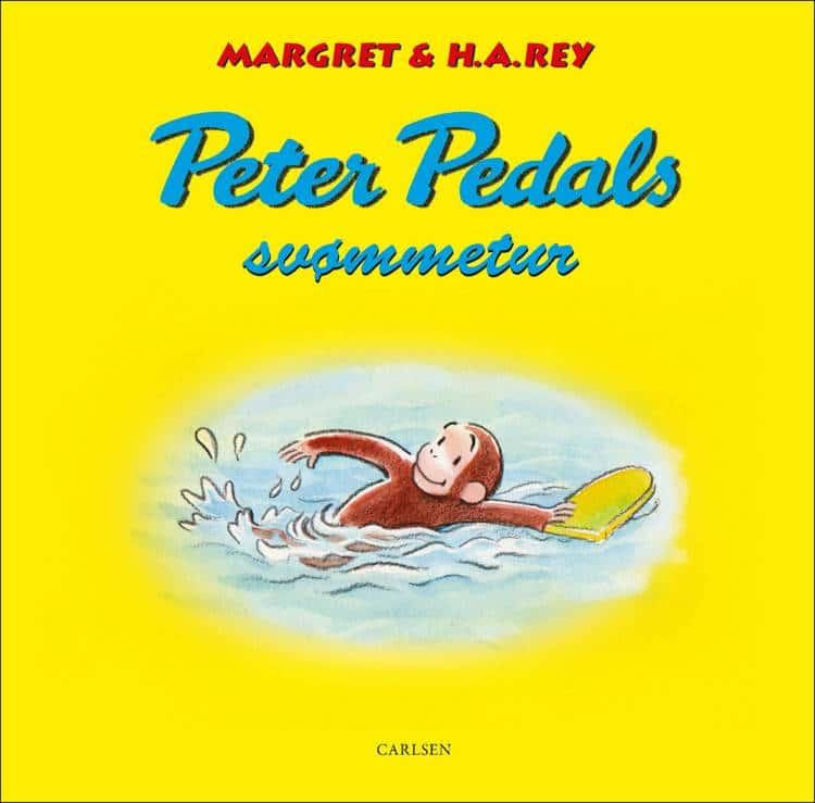 Peter Pedal, Peter Pedals svømmetur, Margret og H.A. Rey, H.A. Rey, Margret Rey, børnebog, børnebøger, børnebogsklassiker