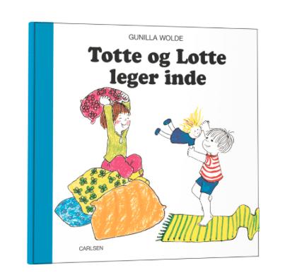 Totte og Lotte, totte, lotte. gunilla holde, 50 år, børnebøger, billedbøger, billedbog, totte går ud