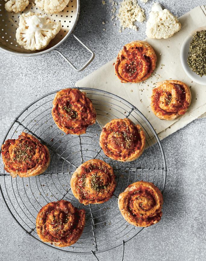 Veggie pizzasnegle fra Grøn mad til hele familien