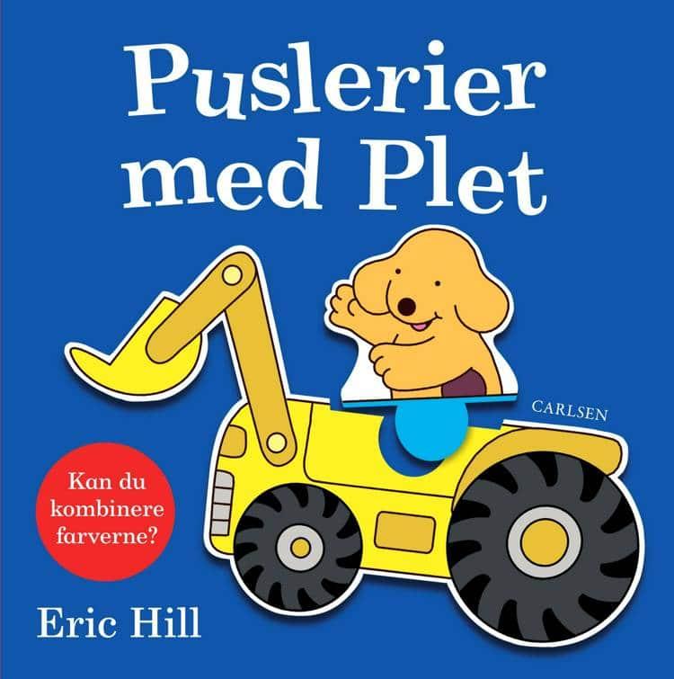 Puslerier med Plet, Eric Hill, plet, hund, børnebog, børnebøger,