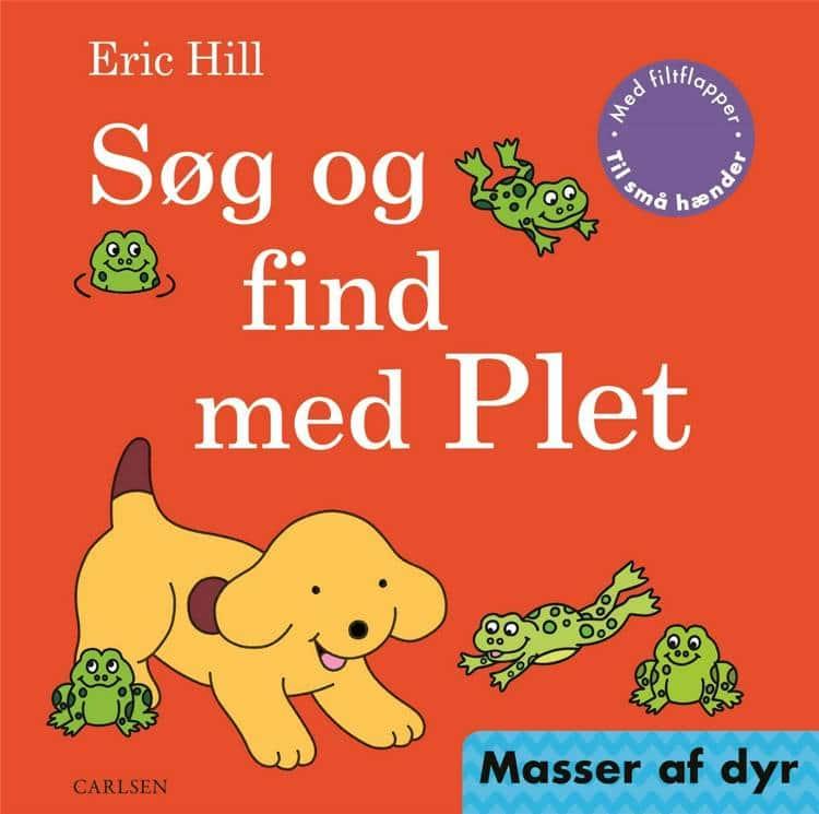 Søg og find med Plet, Eric Hill, plet, hund, børnebog, børnebøger,