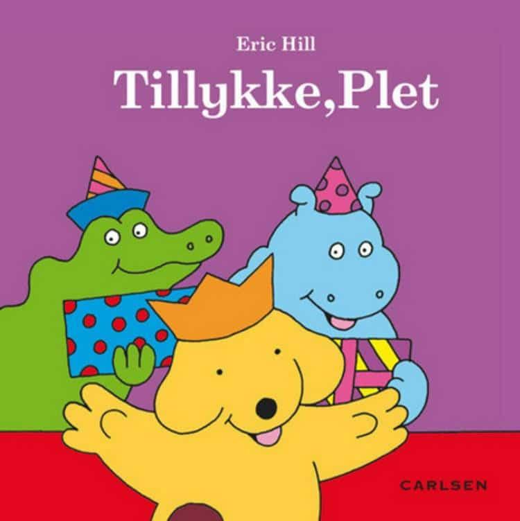 Tillykke Plet, plet, hund, børnebog, eric hill, børnebøger