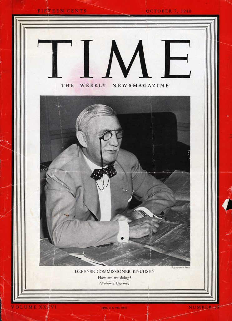 William S. Knudsen i TIME Magazine
