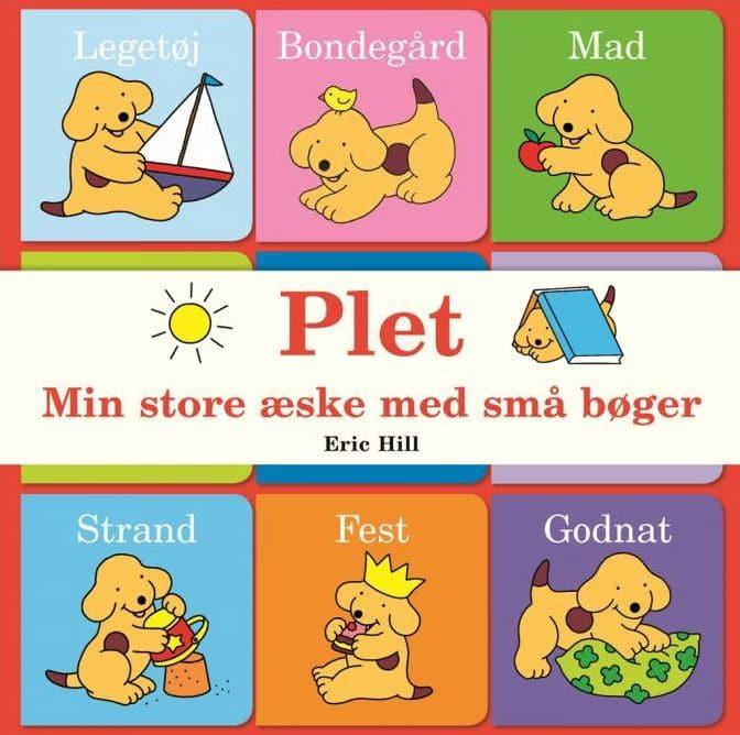 Min store æske med små bøger, Eric Hill, plet, hund, børnebog, børnebøger,