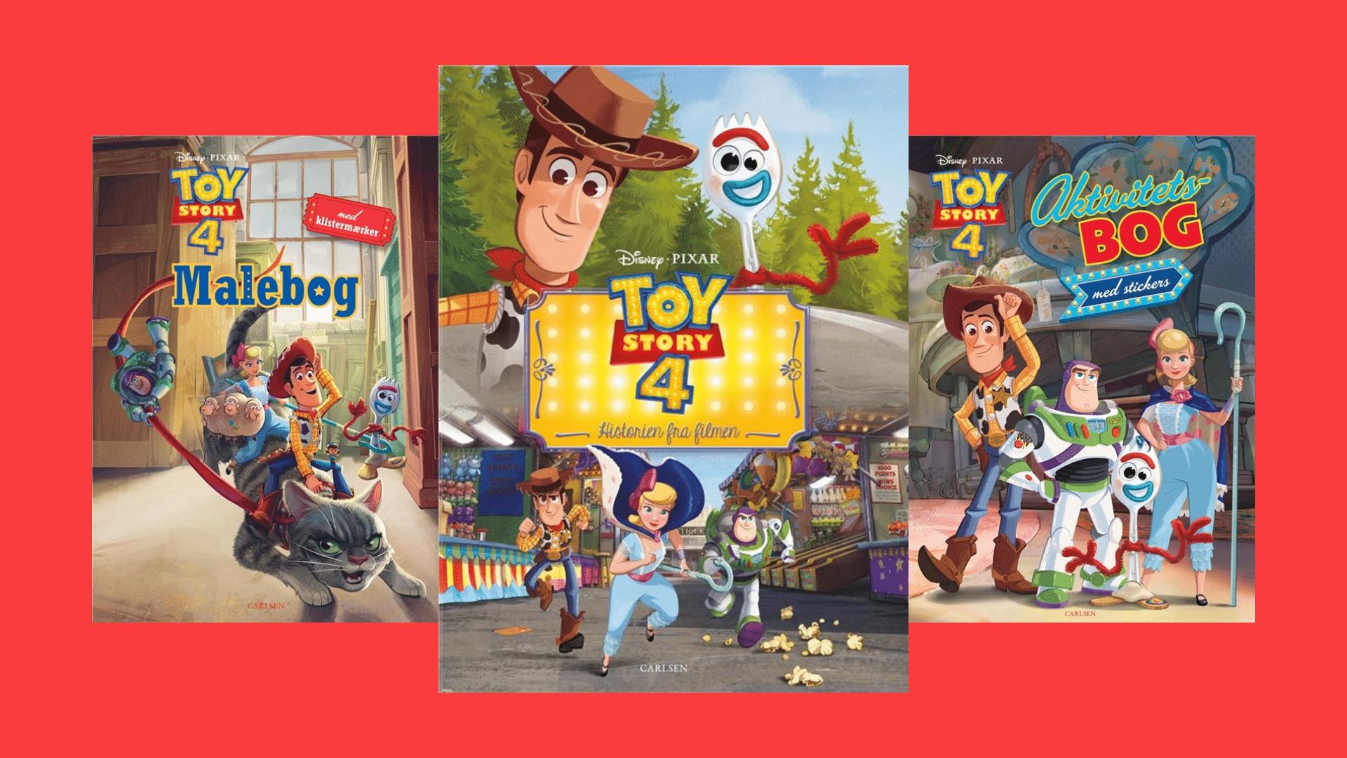 Toy Story, Toy Story 4, Woody, Disney, malebøger, filmbøger, filmbog