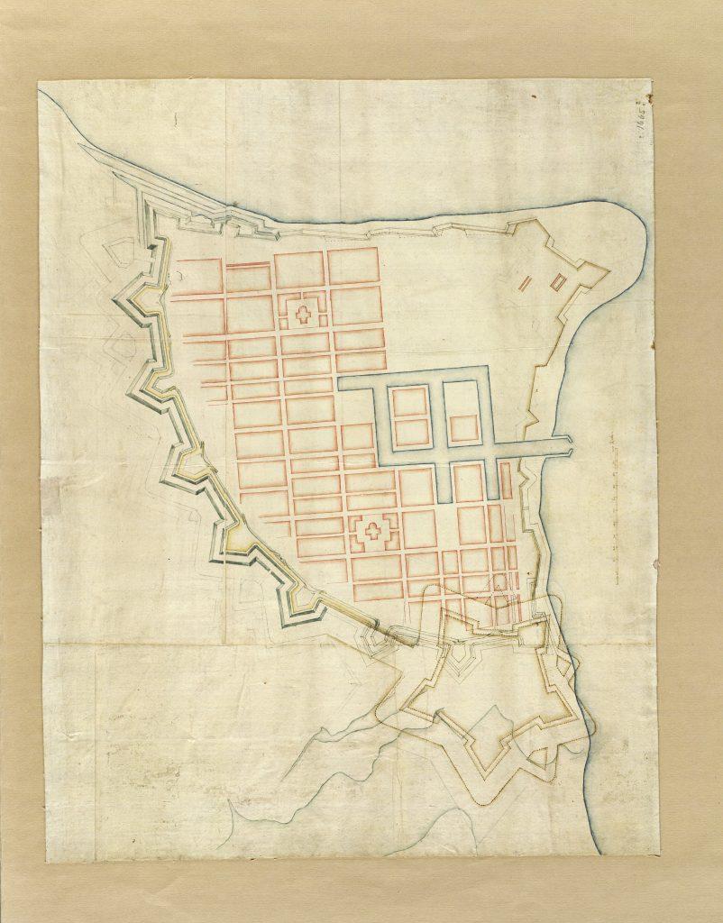 Kortlægningen af Danmark, Historiske kort over Fredericia
