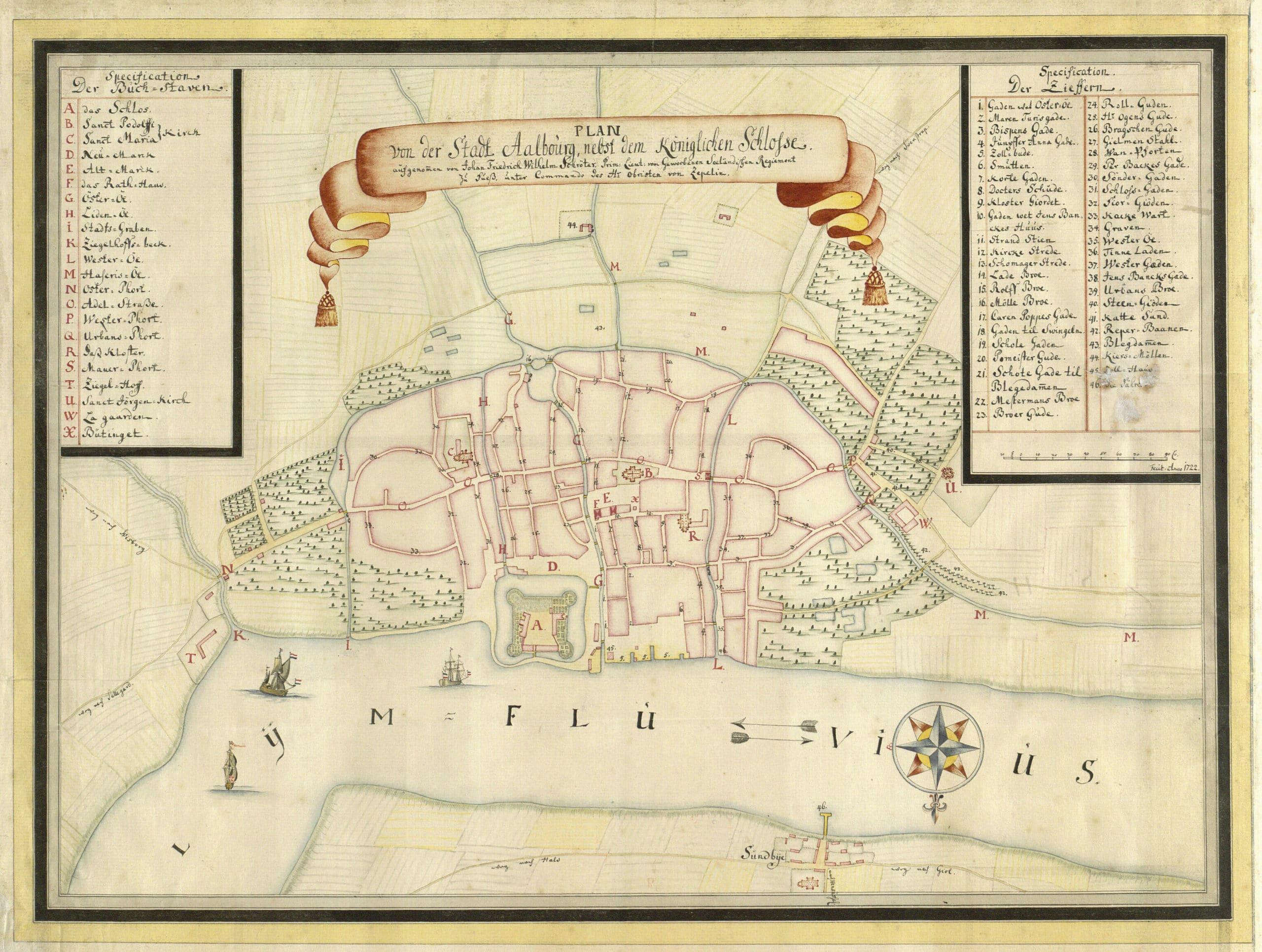 Kort over Aalborg fra Kortlægningen af Danmark