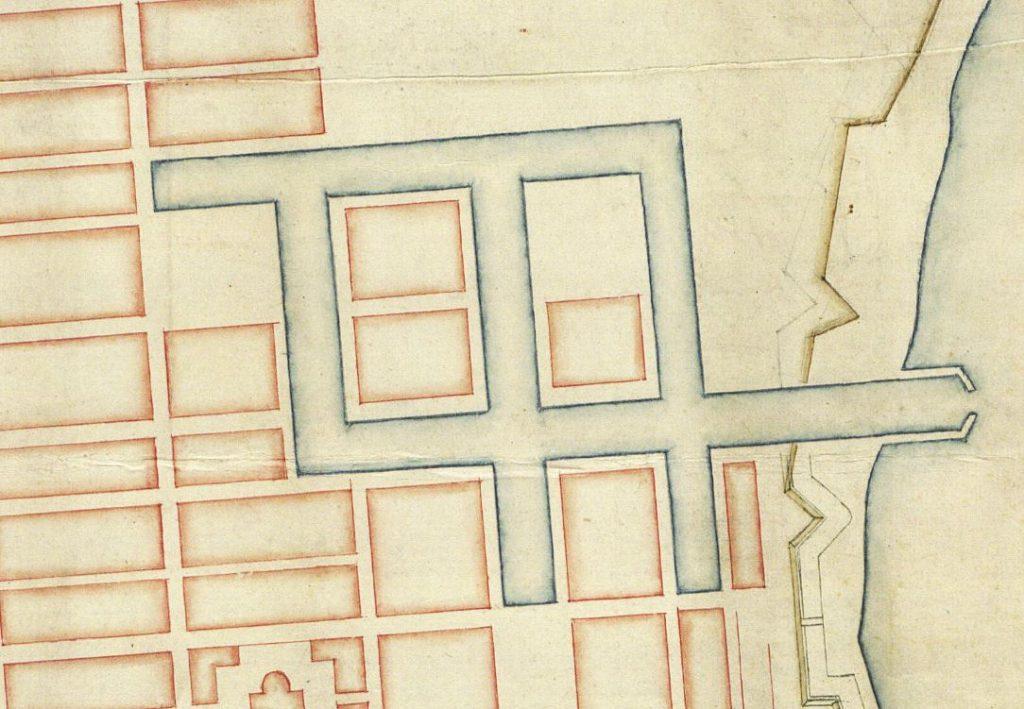 Kortlægningen af Danmark, Historiske kort over Fredericia, kanaler