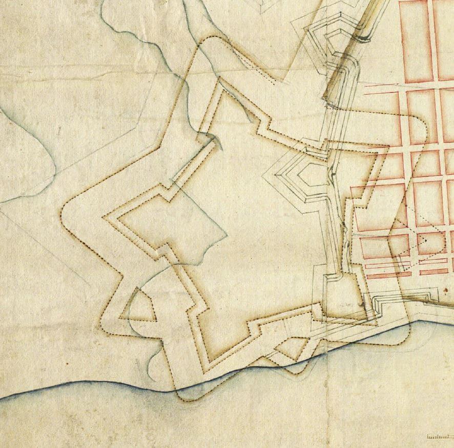 Kortlægningen af Danmark, Historiske kort over Fredericia, kastel