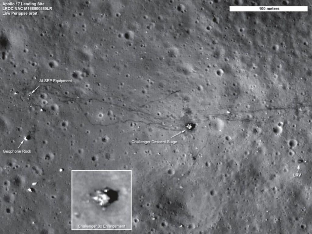 """Billede fra Anja C. Andersens """"En lille bog om Månen"""". Credit: NASA"""