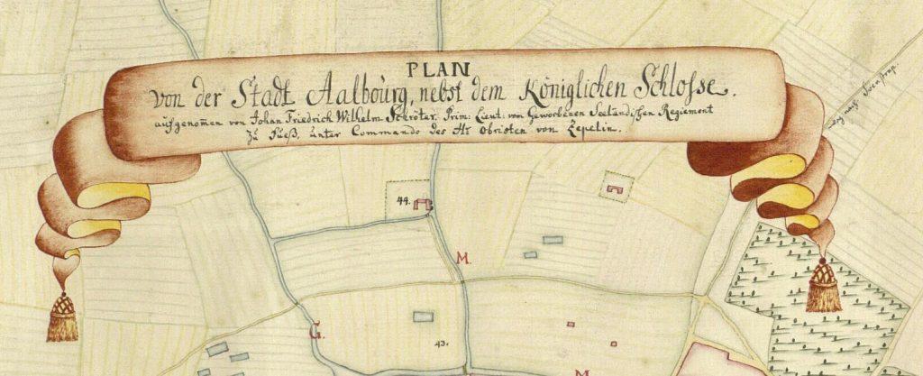 Titelfanen på kortet fra Kortlægningen af Danmark