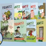 Her er rækkefølgen på de sjove og populære bøger om drengen Frantz