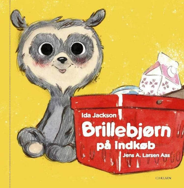 Brillebjørn, Brillebjørn på indkøb, børnebog, børnebøger, Ida Jackson