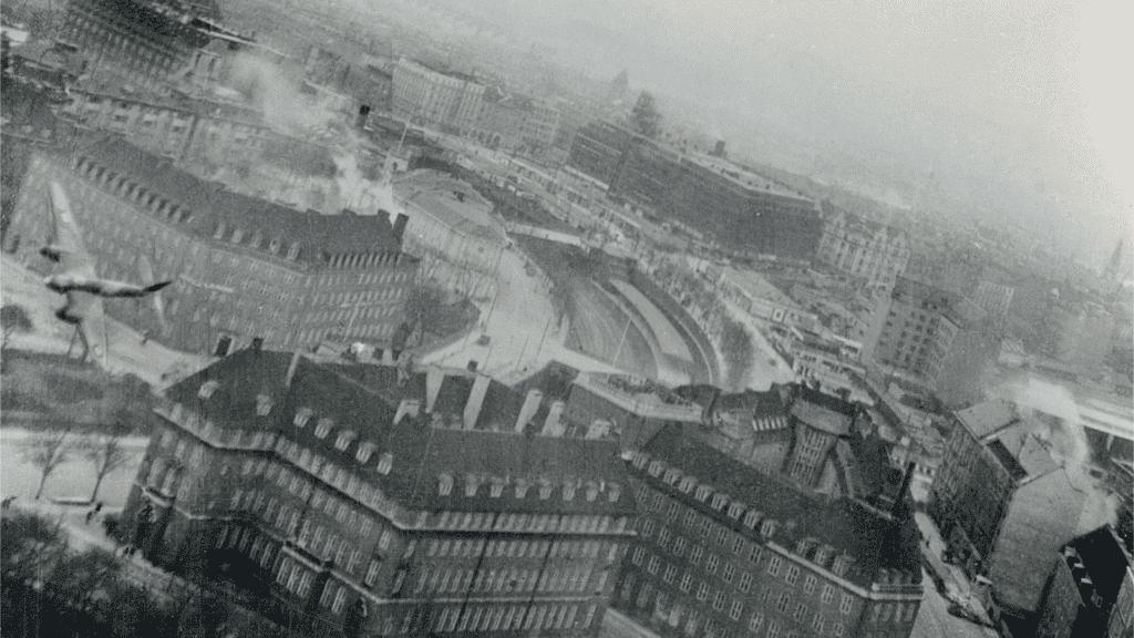 Bombemål Shellhuset, Anden Verdenskrig, Shellhuset