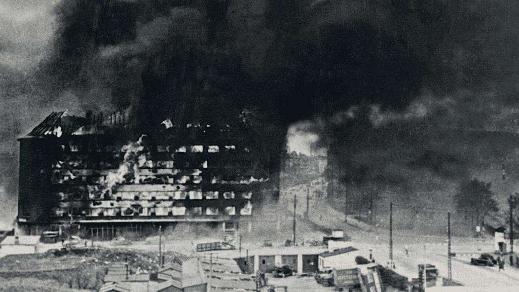 Shellhuset, Bombemål Shellhus, Anden Verdenskrig