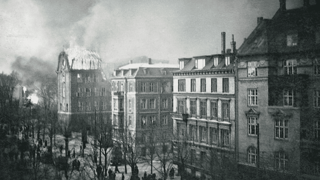 Bombemål Shellhuset, Den franske skole, Anden Verdenskrig