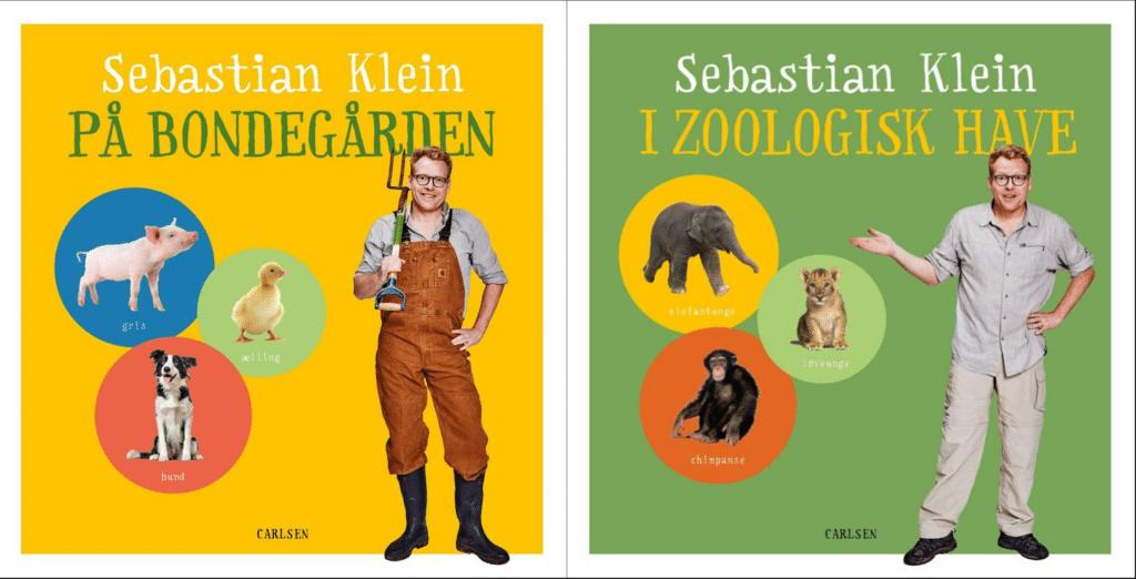 Sebastian Klein, dyrebøger, bøger om dyr, Sebastian Klein på bondegården, Sebastian Klein i zoologisk have