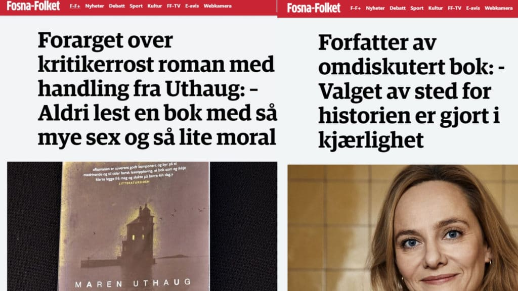 Maren Uthaug i norsk presse