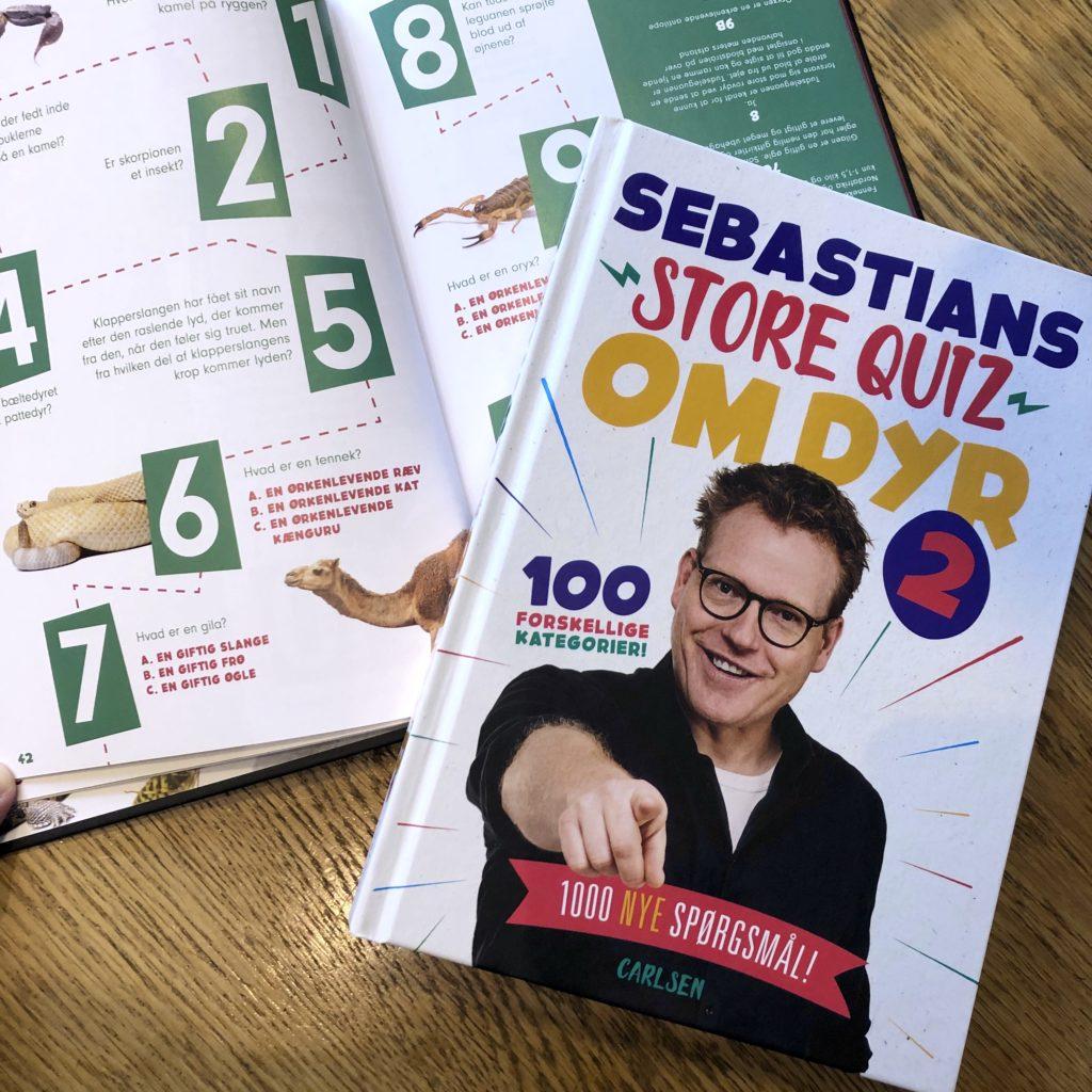Sebastians store quiz om dyr 2, Sebastians store quiz om dyr, Sebastian Klein, dyrequiz, quiz med dyr